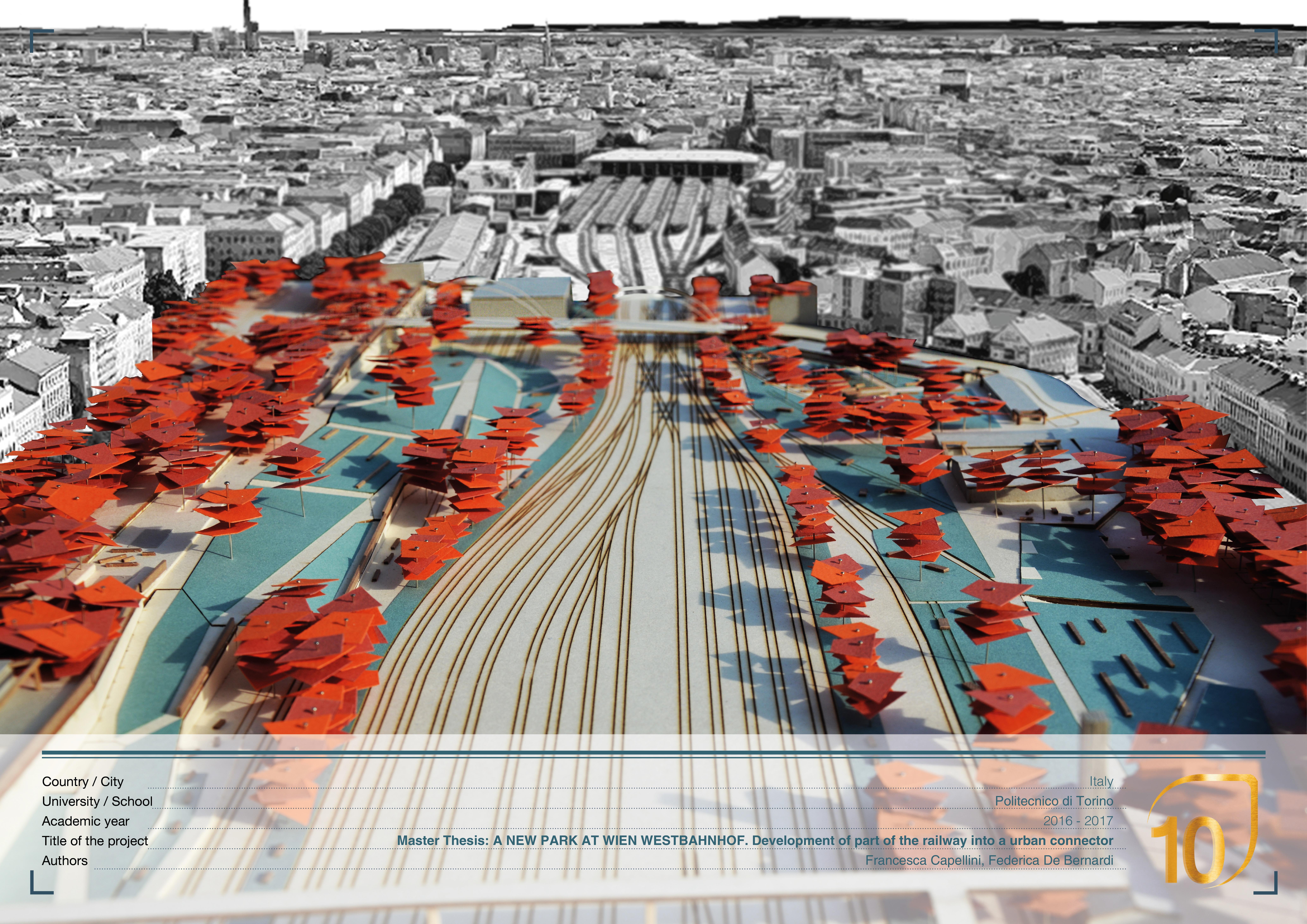 Politecnico Torino Design.A New Park At Wien Westbahnhof Development Of Part Of The