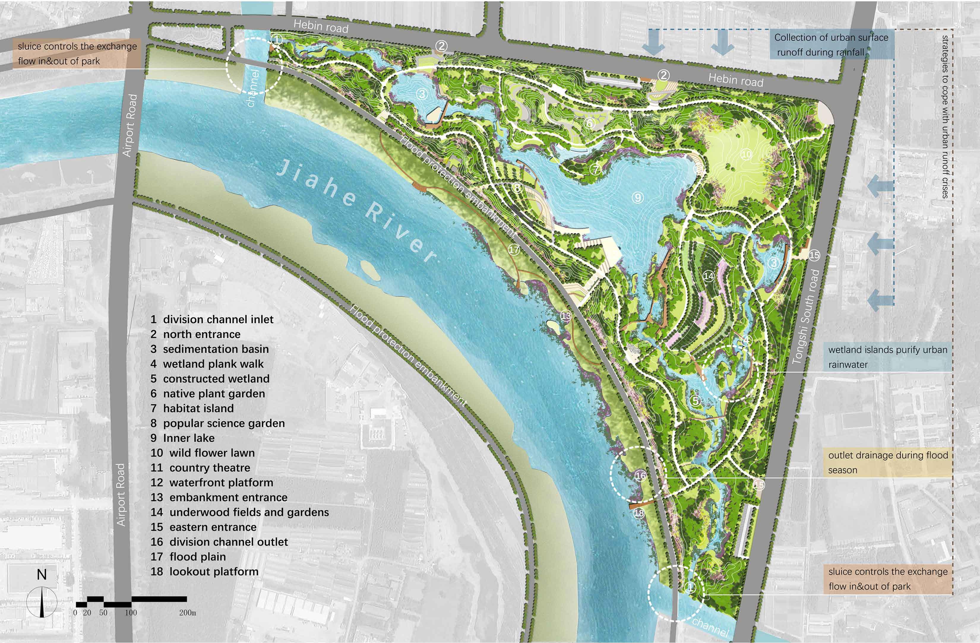 Jiahe River Country Park Respone To Urban Flood Risk Biennal